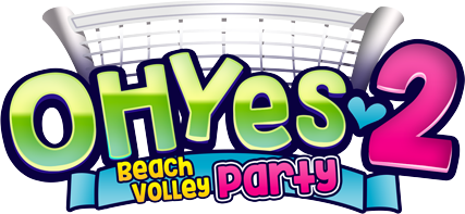 Oh yes 2 beach volley party visual novel logo