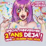 Pour ses deux ans, Hentai Heroes incite à l'orgie de filles!