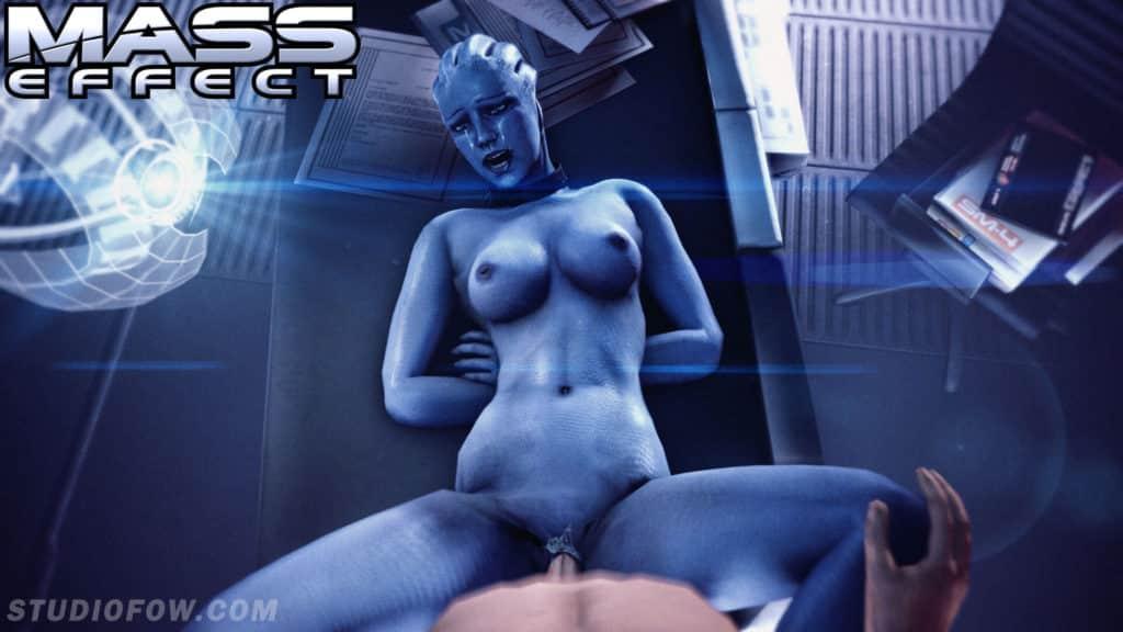 Mass effect parodie hentai femme bleue se fait prendre