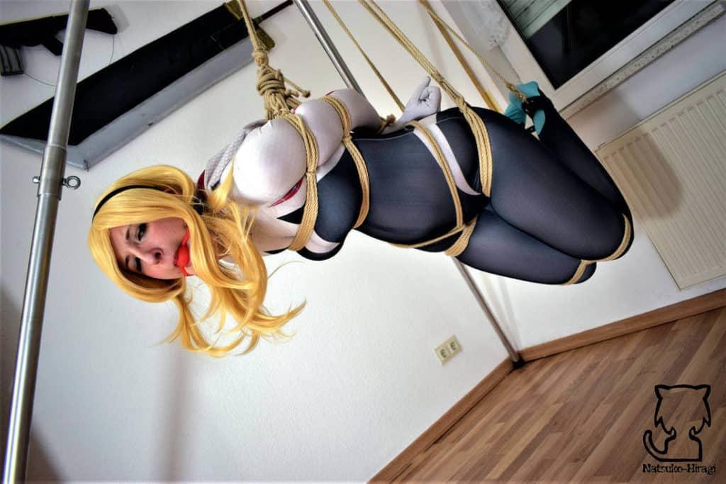 Cosplay bondage SM hentai spider gwen