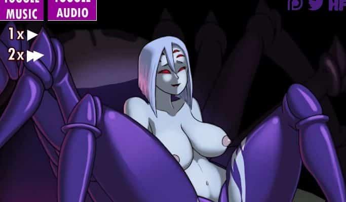 Femme araignée sexy seins nus qui baise, jeu flash hentai