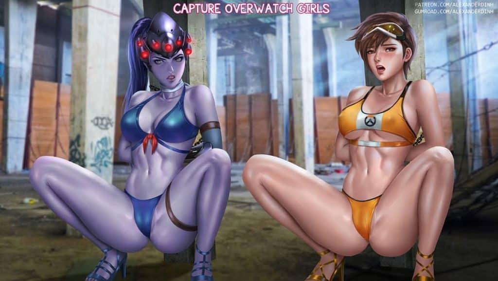 Overwatch Fatale et Tracer soumises BDSM hentai parodie