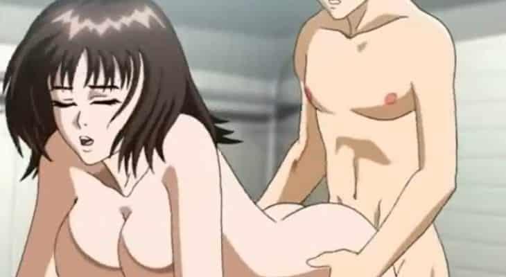 Une brune se fait prendre en levrette vidéo hentai