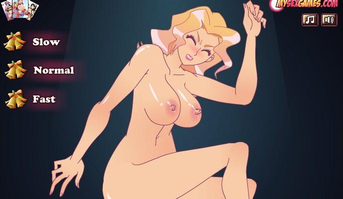 Blonde qui se fait prendre jeu flash hentai